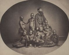 Andaman Island, Papuans, 1869  Samuel Bourne (1834–1912), and Charles Shepherd (active 1858–1879)  Albumen Print  6 ½ x 7 ¾ in