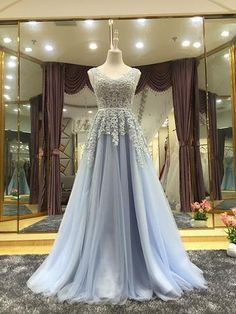 Elegant A line Tulle Lace Long Prom Dress, Woman Prom Evening Dresses, Sexy Formal Dresses, Lace Evening Dess, Lace-up Prom Dresses Junior Prom Dresses, V Neck Prom Dresses, Dresses Short, Tulle Prom Dress, Formal Dresses For Women, Prom Dresses Online, Wedding Dresses, Dress Long, Tulle Lace