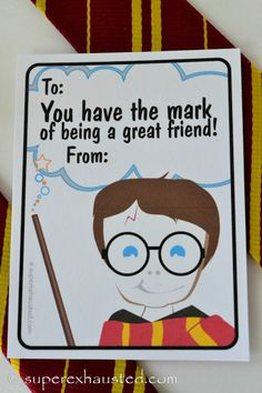 harry Potter printable valentine