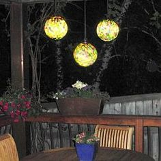 Use my hanging ball Lights (add Ribbons), from at Home Infatuation Blog