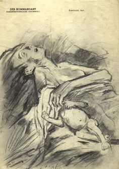 A Mother and Her Baby, 1945 by Private Tolkatchev