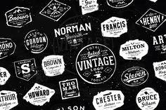 Total Inked Vintage Logo Toolkit by Yusof Mining on @creativemarket