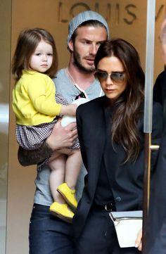 David, Victoria & Harper Beckham Go Shopping