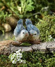 My Fairy Gardens Mini - I Love Us - Bluebird Couple