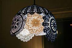 Doily lamp!