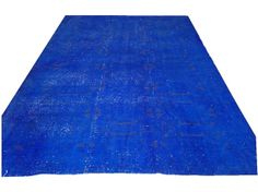 9' 8 X 6'4  Vintage Electric  BLUE Overdyed handmade by chicethnic, $399.00