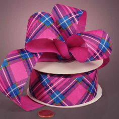 Hot Pink Colors Only | Hot Pink Shimmer Satin Ribbons