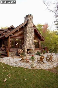 Home Fireplace, Fireplace Design, Modern Fireplace, Cottage Design, House Design, Cottage Style, Young House Love, Forest House, Forest Cottage
