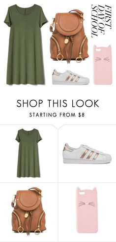 """""""Untitled #47"""" by nerdyowl433 ❤ liked on Polyvore featuring Gap, adidas, See by Chloé and Charlotte Russe"""