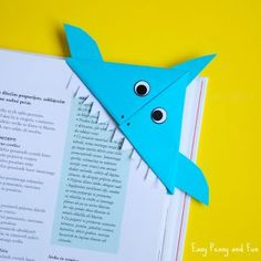 Shark Origami Corner Bookmark