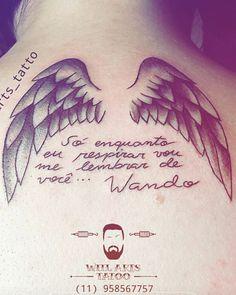 Tattoo Asas nas costas. Homenagem ao meu irmão (falecido).