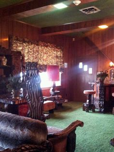 """Jungle Room at Graceland...""""....there's a pretty little thing waiting for the King Down in the Jungle Room...""""--From the March Cohn Lyrics to """"Walking In Memphis""""..."""
