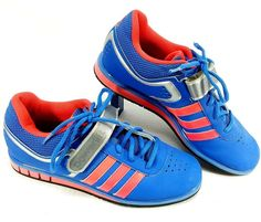 af2d69912 Adidas Powerlift Womens Weight Lifting Shoes Blue Pink Awesome Condition Size  8  adidas  weightlifting