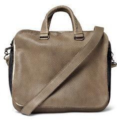 Banded Full Grain Leather Tote Bag (BV)