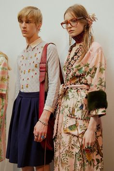 STYLE INSPO @ PEACEVINTAGE.COM : Backstage at the Gucci Menswear SS16 show