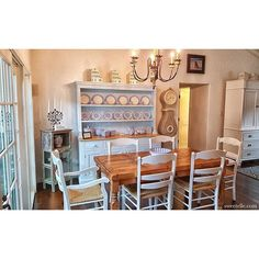 """""""A peak inside the sweetest Carmel cottage. With our charming sky blue Welsh Buffet with Hutch. Thanks for sending V  #madeinusa #madeincalifornia #handmadefurniture #sweetelle #kitchen #cottage #coastalliving #countrystyle #interiors #Inspiration #interiordesign #happy #home"""" Photo taken by @_sweet_elle_ on Instagram, pinned via the InstaPin iOS App! http://www.instapinapp.com (02/23/2016)"""