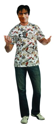 Charlie Sheen Costume TShirt Adult