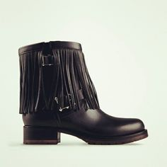 HOW COOL ARE THESE VALENTINO FRINGED BIKER BOOTS?