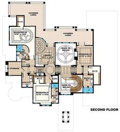 Luxury Plan: 8,364 Square Feet, 6 Bedrooms, 6 Bathrooms - 1018-00254 6 Bedroom House Plans, House Plans Mansion, Luxury House Plans, Craftsman House Plans, Dream House Plans, Modern House Plans, Small House Plans, House Floor Plans, Luxury Houses