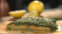Herb Coated Cedar Plank Salmon