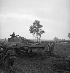 A Sherman Crab flail tank during the advance towards Venraij, 17 October 1944.