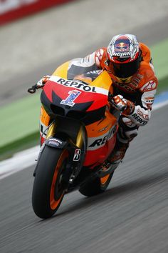 Casey Stoner Getting Down Low Wheels