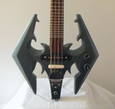 Made To Order  Skyrim The Elder Scrolls Dragon by TTguitars, $695.00