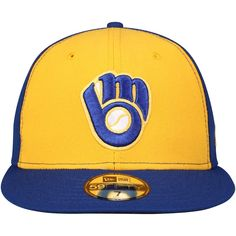 Milwaukee Brewers New Era Turn Back the Clock 59FIFTY Fitted Hat –  Gold Royal 5199cdf5cce3