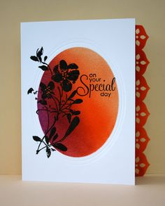 The Bright Side of Life  fabulous one layer card from Cathy
