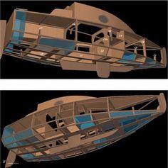Catamaran, Kayaks, Bateau Diy, Sailboat Plans, Small Sailboats, Build Your Own Boat, Plywood Boat, Diy Boat, Yacht Interior