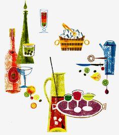 cocktail assortment illustration