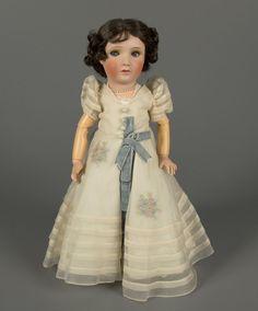 Bisque and composition Princess Elizabeth doll, character doll of the future HM Queen Elizabeth II of Great Britain, France, 1938, by Jumeau (later part of Société Française de Fabrication de Bébés et Jouets').
