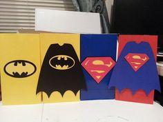 Batman & Superman Party Bags 12 ct