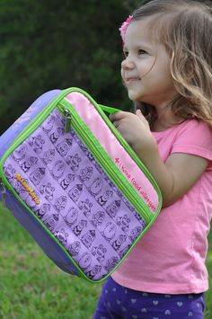 I Have Allergies Eco Friendly Lunch Bag: PURPLE