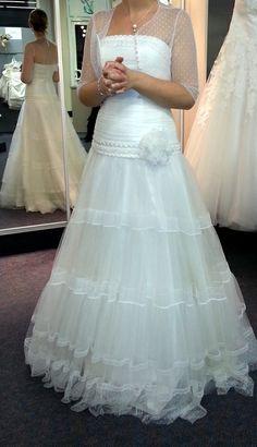 Robe de mariée NEUVE Créations Bochet Jessy 2014 d'occasion en basse normandie
