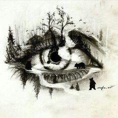 Loneliness tattoos design- eye tattoos - topnailsart tattoo drawings in 201 Dark Art Drawings, Pencil Art Drawings, Art Drawings Sketches, Tattoo Drawings, Cool Drawings, Tattoo Art, Art Du Croquis, Eyes Artwork, Eye Art