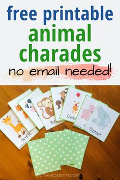 A fun way to play animal charades with the whole family! Print out these fun animal flash cards to play charades with kids of all ages. Games For Little Kids, Act For Kids, Free Games For Kids, Games For Toddlers, Toddler Games, Kid Games, Charades For Kids, Charades Game, Games