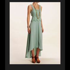 Collective Concepts Mint Green Hi-Low Dress