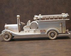 Handmade Wooden Fire Truck - Free Personalization!