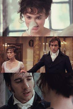 Keira Knightley (Elizabeth Bennet) & Matthew Macfadyen (Mr. Fitzwilliam Darcy) - Pride & Prejudice (2005) directed by Joe Wright #janeausten