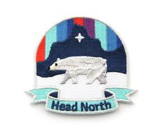 Head North Iron On Patch by MokuyobiThreads on Etsy