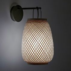 Titouan Bamboo & Rice Paper Wall Light by E. Gallina AM.PM The Titouan wall light, an Emmanuel Gallina creation, exclusively for AM. A combination of an artisan style and contemporary design. Luminaire Mural, Luminaire Design, Lamp Design, Style Artisanal, Bamboo Rice, Luminaire Applique, Bamboo Structure, Home Furnishing Accessories, Rice Paper