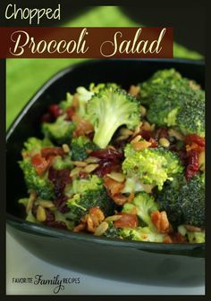 This broccoli salad is a great way to get your kids to eat broccoli! #broccolirecipe #broccolisalad broccolisalad, broccoli salad, salad favorites