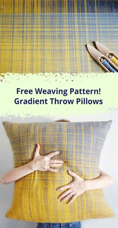 Free Pattern to Weave and Sew these Gorgeous Pillows Weavers: Use this kit to weave 2 gorgeous pillows! The post Free Pattern to Weave and Sew these Gorgeous Pillows appeared first on Weaving ideas. Weaving Yarn, Weaving Textiles, Tapestry Weaving, Hand Weaving, Loom Knitting Patterns, Weaving Patterns, Knitting Tutorials, Free Knitting, Stitch Patterns