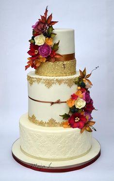 Jesenná svadobná torta, Autorka: MayaL30, Tortyodmamy.sk