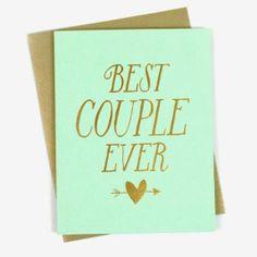 Pretty hues make this the ideal wedding card.