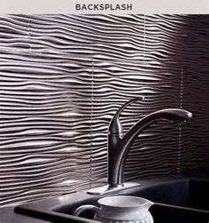Textured Laminate Backsplash Kitchenandbath
