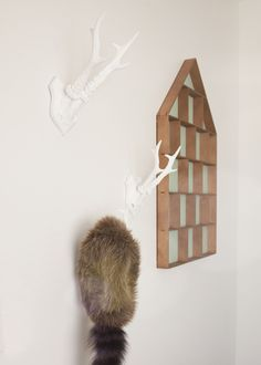 White antlers for a nature inspired nursery.