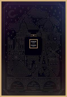 Pixels Addict | Chanel Noir Illustration art digital publicité
