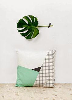 Zomooi: The grid print mixes well with pastel, plants, wood and copper. #gridprinttrend